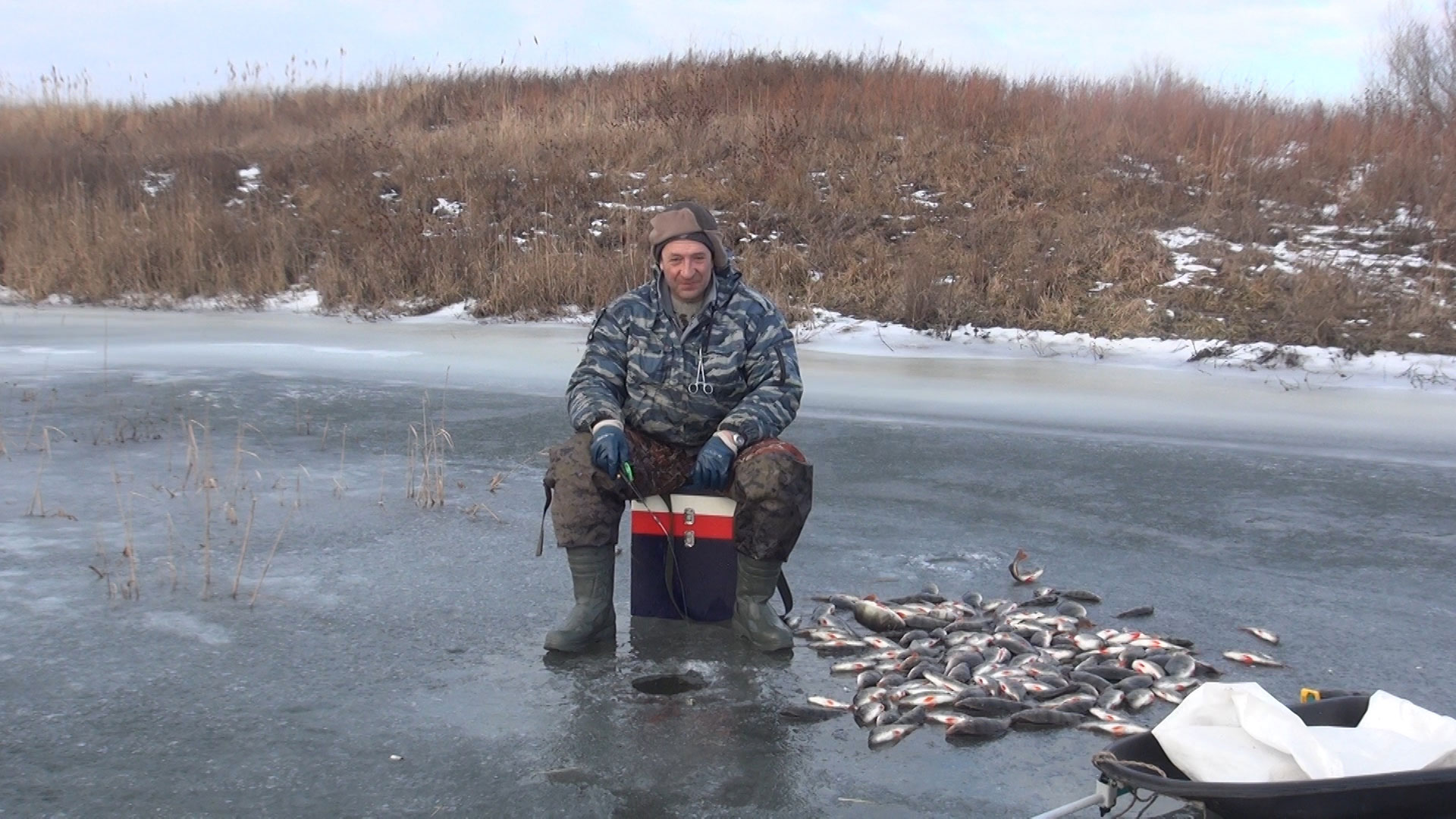 Зимняя рыбалка на митинке с